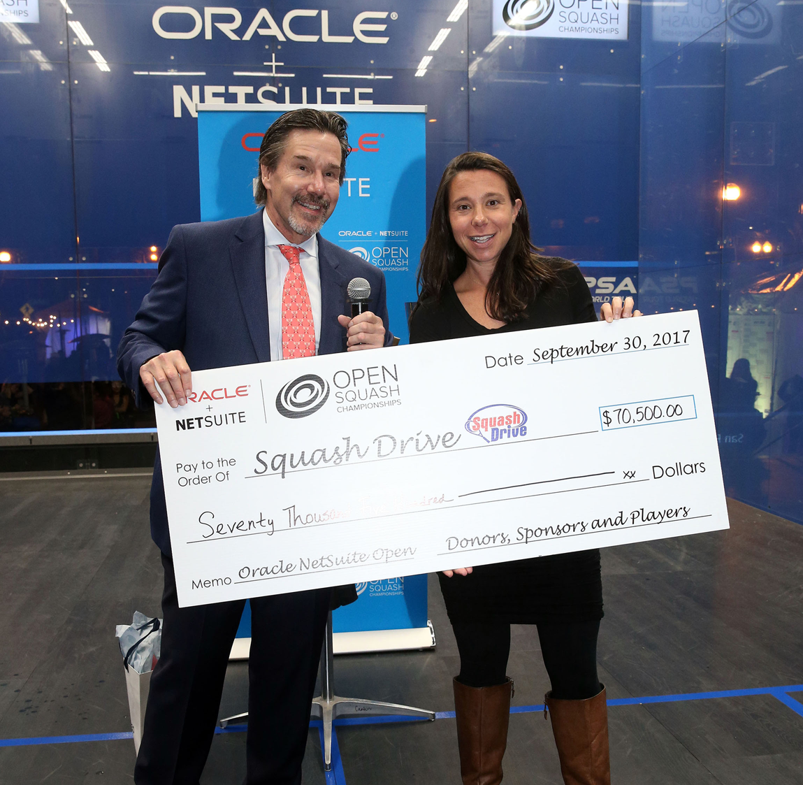2018 Oracle NetSuite Open to Benefit Local Youth Nonprofit SquashDrive